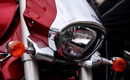 Part of motorcycle headlight Royalty Free Stock Photography
