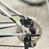Part of Mountain Bike brake disc Royalty Free Stock Images