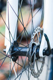 Part of Mountain Bike brake disc. Royalty Free Stock Photography