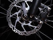 Part of Mountain Bike brake disc Royalty Free Stock Photo