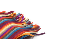 Part of multi-colored scarf Royalty Free Stock Photo