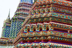 Part of multicolored Buddhist temple Stock Photo