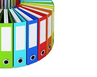 Part of multicolored folders Royalty Free Stock Images
