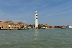 Part of Murano island view from one boat Royalty Free Stock Photo