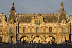 Part of Musee du Louvre and traffic Royalty Free Stock Images