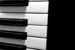 Part of the musical keyboard Stock Photography