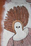 Part of a native Aboriginal wall painting, Australia Stock Photo