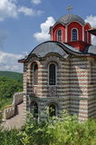 Part of new church in restored Montenegrin or Giginski monastery. St. St. Cosmas and Damian, mountain Kitka, Breznik, Pernik region, Bulgaria Royalty Free Stock Photography