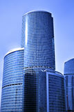 The part of new skyscrapers business centre Stock Photography