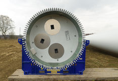 Part of a new windturbine Stock Photos