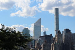Manhattan Skyline, Citigroup Building, New York City. A portion of the New York City skyline seen from Long Island City, Queens including the CitiGroup Building stock image