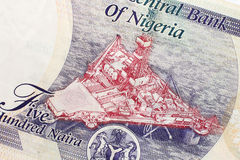 Part of Nigerian currency Stock Photos