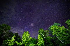 Part of a night sky with stars Royalty Free Stock Photography