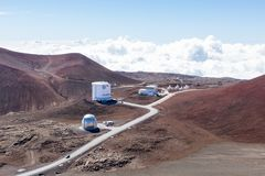 Part of the Observatory on Mauna Kea, Hawaii Royalty Free Stock Image