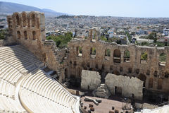 Part of Odeon of Herodes Atticus Royalty Free Stock Images