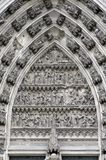 Part Of Cologne Cathedral Door Royalty Free Stock Image
