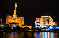 Part Of Las Vegas Skyline At Night Royalty Free Stock Image