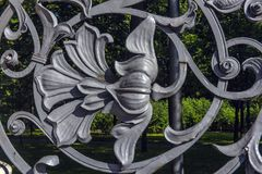 Part Of Mikhailovsky (Michael) Garden Fence Royalty Free Stock Images