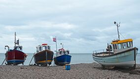 Free Part Of The Local Fishing Fleet At Beer UK Stock Image - 176057921