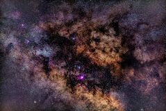 Free Part Of The Milky May Galaxy. Detailed Image. Stock Images - 183541914