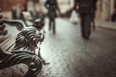 Free Part Of Vintage Bech On The Street Stock Photography - 49867752