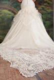 Part Of Wedding Dress Royalty Free Stock Photo