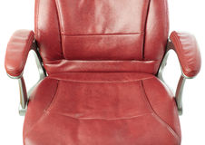 Part of Office chair over isolated white background Royalty Free Stock Photography