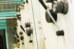 Part of offset printing machine Stock Images