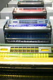 Part of offset printing machine Stock Photo