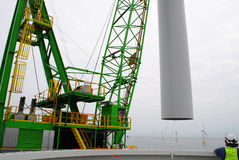 Part of an Offshore wind park Royalty Free Stock Photography
