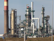 Part of an oil refinery and powerplant Royalty Free Stock Image