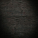 Part of the old, black brick wall. Mockup Stock Image