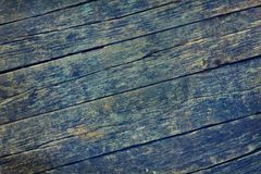 Part of the Old Blue Diagonal Boards Royalty Free Stock Photography