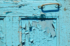 Part of old blue door Royalty Free Stock Images