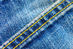 Part of old blue jeans Royalty Free Stock Photography