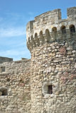 Part of old brick and stone wall wall fortress Stock Photos