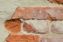 Part of the old brick wall stock images