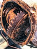 The part of the old car. Closeup Royalty Free Stock Image