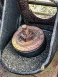 The part of the old car. Closeup Royalty Free Stock Photography