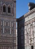 Part of an old church in Florence. Part of the old church and dome in Florence Royalty Free Stock Images