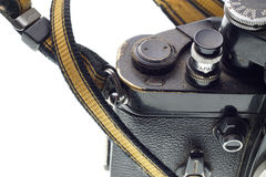 Part of the old dirty photographic camera Stock Image