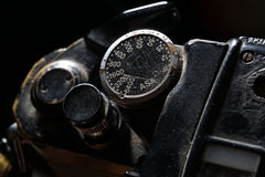 Part of the old dirty photographic camera Royalty Free Stock Photo