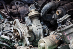 Part of old engine was abandoned Stock Photography