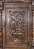 Part of old fashioned sideboard. Stock Images