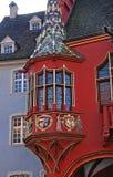 Part of old Historical Merchants Hall facade, Freiburg im Breisgau, Germany
