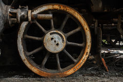 Part of an old industrial train Royalty Free Stock Image
