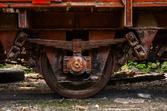Part of an old industrial train Stock Photos