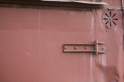 Part of the old iron door wagon Stock Photo