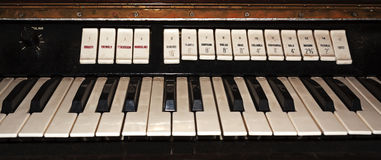 Part of the old keyboards Stock Image