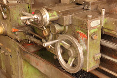 Part of the old lathe. Royalty Free Stock Photography